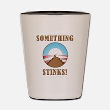Anti Obama Something Stinks Shot Glass