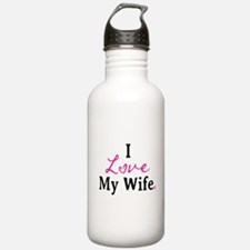 I Love My Wife Water Bottle