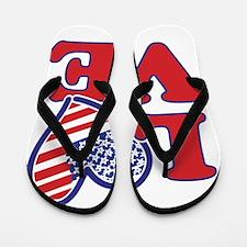 I Love the USA Flip Flops