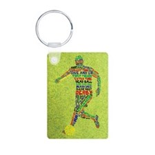 Soccer Typography Player Keychains