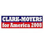 Clark-Moyers for America 2008 sticker