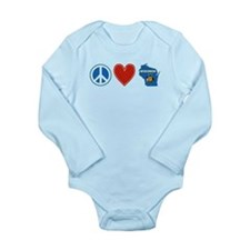 Peace Love Wisconsin Long Sleeve Infant Bodysuit