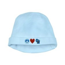 Peace Love Wisconsin baby hat