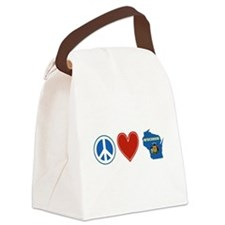 Peace Love Wisconsin Canvas Lunch Bag