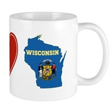 Peace Love Wisconsin Mug