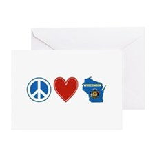 Peace Love Wisconsin Greeting Card