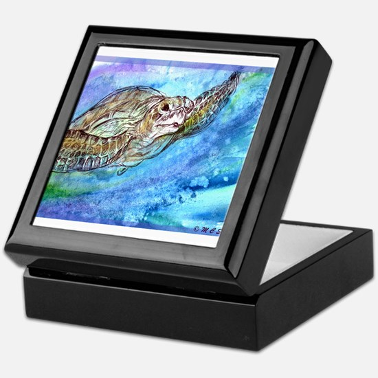 Sea Turtle, Wildlife art! Keepsake Box