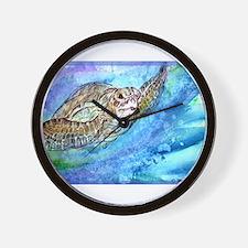 Sea Turtle, Wildlife art! Wall Clock