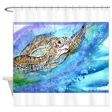 Sea Turtle, Wildlife art! Shower Curtain