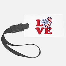 I Love the USA Luggage Tag