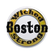 Wicked Strong Bruins Ornament (Round)