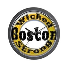 Wicked Strong Bruins Wall Clock