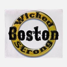 Wicked Strong Bruins Throw Blanket
