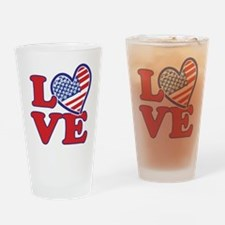 I Love the USA Drinking Glass