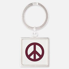 Maroon Peace Sign Keychains