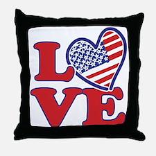I Love the USA Throw Pillow