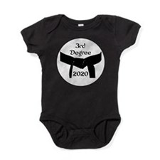Martial Arts 3rd Degree Black Belt Baby Bodysuit