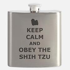 Obey The Shih Tzu Flask