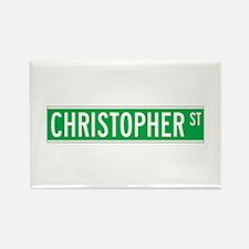Christopher St., New York - USA Rectangle Magnet