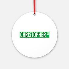 Christopher St., New York - USA Ornament (Round)