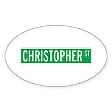 Christopher St., New York - USA Oval Decal
