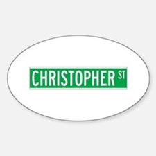 Christopher St., New York - USA Oval Decal