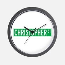 Christopher St., New York - USA Wall Clock