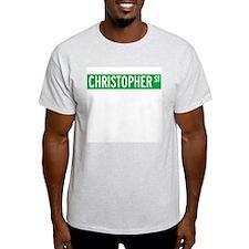 Christopher St., New York - USA Ash Grey T-Shirt