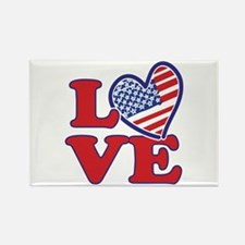 I Love the USA Rectangle Magnet (100 pack)