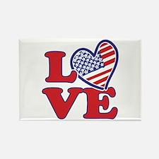 I Love the USA Rectangle Magnet