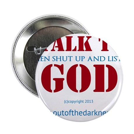 "Talk to God 2.25"" Button"