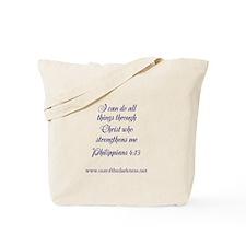 Phillipians 4:13 Tote Bag