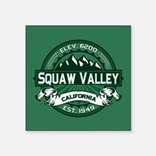 "Squaw Valley Forest Square Sticker 3"" x 3"""
