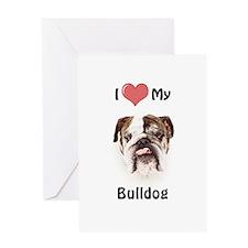 Love My Bulldog Greeting Card