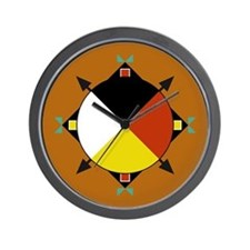 Cherokee Four Directions Wall Clock