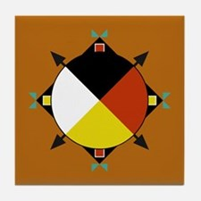 Cherokee Four Directions Tile Coaster