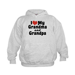 I Love My Grandma and Grandpa Hoodie
