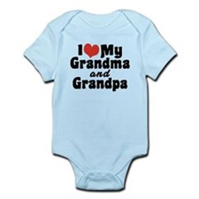 I Love My Grandma and Grandpa Infant Bodysuit