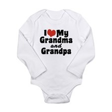 I Love My Grandma and Grandpa Long Sleeve Infant B