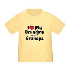 I Love My Grandma and Grandpa T
