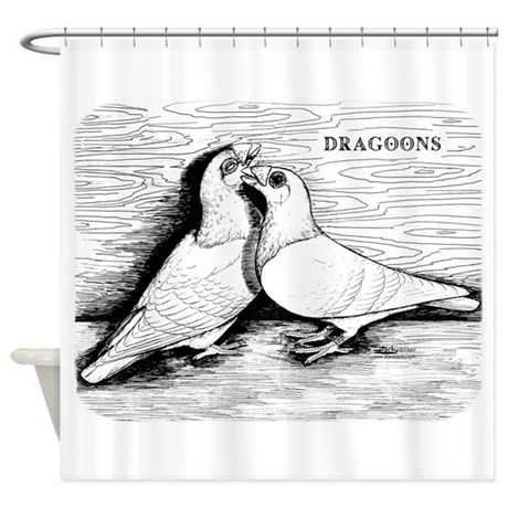 Dragoon Pigeons Shower Curtain by jackynet