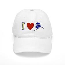 I Love Alaska Baseball Cap