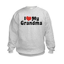 I Love My Grandma and Grandpa Sweatshirt