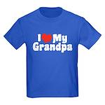 I Love My Grandpa Kids Dark T-Shirt