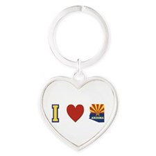 I Love Arizona Heart Keychain