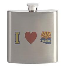I Love Arizona Flask