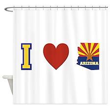I Love Arizona Shower Curtain