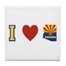 I Love Arizona Tile Coaster