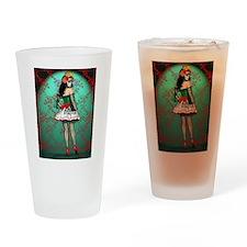 Dia De Los Muertos Stockings Pin-up Drinking Glass