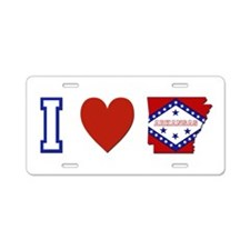 I Love Arkansas Aluminum License Plate